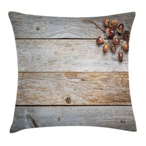 Pillow Case Acorn Planks Print Cover No Insert
